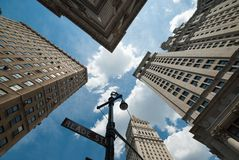 NYC architecture skycrapers reade st Stock Photo
