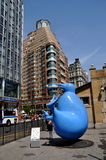 NYC: Arte pública na rua do oeste 72nd Fotografia de Stock