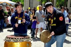 NYC: Asian American Festival Musicians stock photo