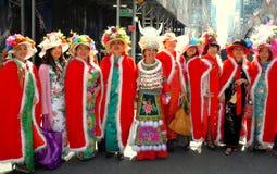 NYC: Asian Woman at Easter Parade Stock Image