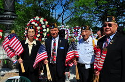 NYC: Asiat-amerikan veteran på Memorial Day ceremoni Arkivfoto