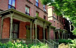 NYC: Astor Row Houses in Harlem Stock Images