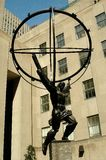 NYC: Atlas Holding the World at Rockefeller Center Stock Image