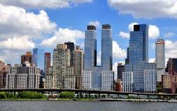 NYC: Atutowy miejsce przy brzeg rzeki parka południe Zdjęcie Royalty Free