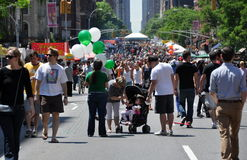 NYC : Avenue d'Amsterdam. Festival de rue Photo stock
