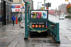 NYC-avstängning --Sandig orkan Arkivfoton