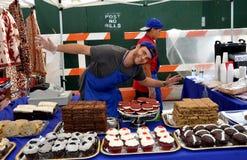 NYC: Bäcker am oberen Broadway-Festival stockbild