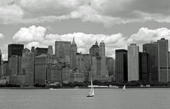 NYC in B&W lizenzfreie stockfotos