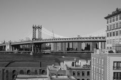 NYC In B&W Stock Image