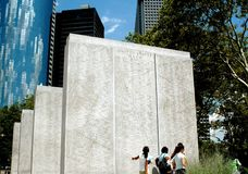 NYC: Battery Park War Memorials royalty free stock photos