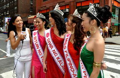 NYC: Beautiful Filippina Women at Parade Stock Photo
