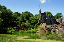 NYC: Belevedere Castle in Central Park Royalty Free Stock Images