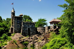 NYC: Belevedere Castle in Central Park Royalty Free Stock Photography