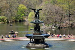 NYC: Bethesda Fountain in Central Park Stock Image