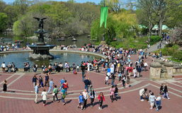 NYC: Bethesda Fountain im Central Park Stockbild