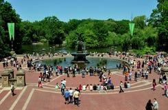 NYC: Bethesda Terrace & Fountain in Central Park Stock Photos