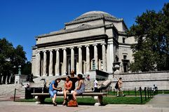 NYC: A biblioteca da Universidade de Columbia fotografia de stock