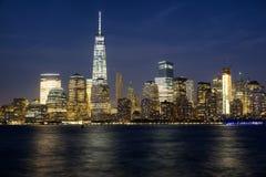 NYC bij Nacht Stock Afbeeldingen