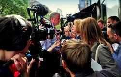 NYC: Bill DeBlasio Prowadzi kampanię na Górnej zachodniej stronie Obrazy Royalty Free