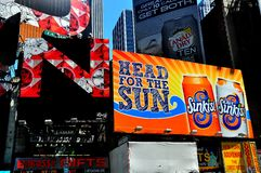 NYC:  Billboards in Times Square Royalty Free Stock Images