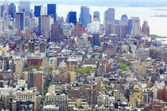 NYC from bird's eye view Royalty Free Stock Photography