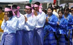NYC: Birmaanse Grote Optocht stock afbeeldingen