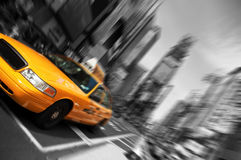 Nyc, blur focus motion, times square royalty free stock photography