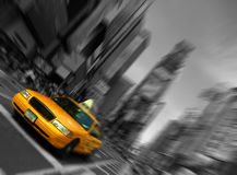 Nyc, blur focus motion, times square Stock Images