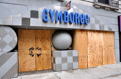 NYC: Boarded Up Storefront Royalty Free Stock Image
