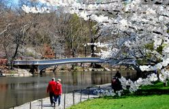 NYC: Bow Bridge in Central Park Stock Photos