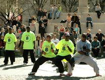 NYC: Break Dancers on Fifth Avenue Stock Images