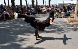 NYC: Break Dancers Performing Royalty Free Stock Images