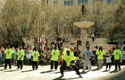 NYC:  Breakdancers at Grand Army Plaza Royalty Free Stock Images