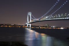 NYC bridge at night Stock Photo