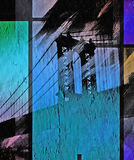 NYC Bridge Painting Royalty Free Stock Images