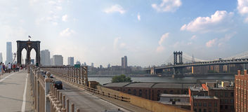 NYC Bridges Panorama Stock Photos