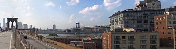 NYC Bridges Panorama Stock Image