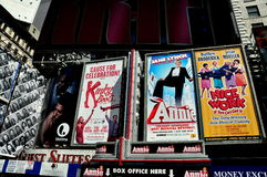 NYC: Broadway Musical Times Square Billboards Stock Images