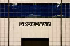 NYC Broadway Subway Sign Royalty Free Stock Images
