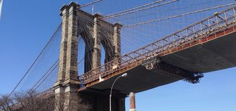 NYC Brookling bridge Stock Images