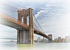 nyc brooklyn моста стоковая фотография rf