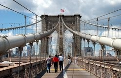 NYC: Brooklyn Bridge Royalty Free Stock Images