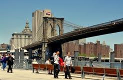 NYC: Brooklyn Bridge & Park Royalty Free Stock Image