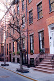 NYC brownstone buildings Royalty Free Stock Photos
