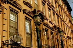 NYC: Brownstones in Harlem Stock Image