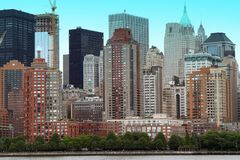 NYC Buildings. Buildings and offices grouped together to make up NYC royalty free stock images