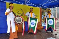 NYC: Burmese Drummers Stock Photo