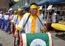 NYC: Burmese Grand Procession at Festival Stock Photos
