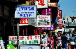 NYC: Business Signs in Chinatown Royalty Free Stock Photos