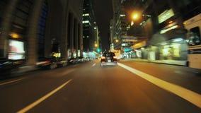 Nyc cab pov stock footage